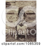 Colville Indian Woman Holding Baby Free Historical Stock Photography