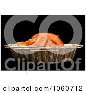 Cooked Turkey In A Roasting Pan Royalty Free Thanksgiving Stock Photo by Kenny G Adams