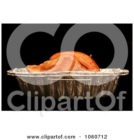 Cooked Turkey In A Roasting Pan - Royalty Free Thanksgiving Stock Photo by Kenny G Adams