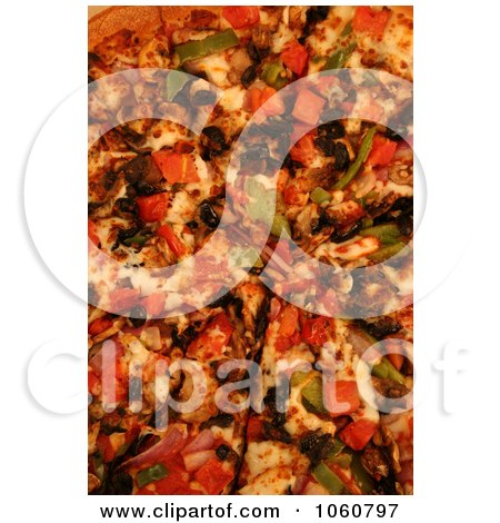 Cooked Veggie Pizza - Royalty Free Stock Photo by Kenny G Adams