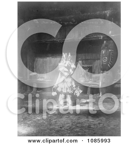Cowichan Masked Dancer - Free Historical Stock Photography by JVPD
