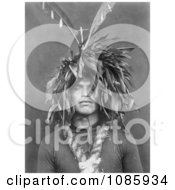 Cowichan Wearing Feathered Head Dress Free Historical Stock Photography by JVPD