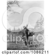 Cree Woman Carrying Moss Free Historical Stock Photography by JVPD
