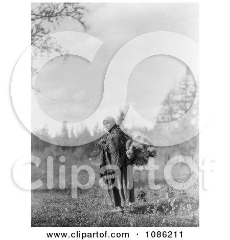 Cree Woman Carrying Moss - Free Historical Stock Photography by JVPD