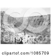 Crow Indian Looking Over Black Canyon Free Historical Stock Photography