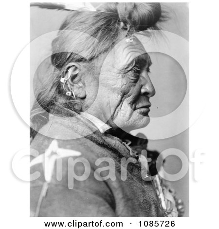 Crow Indian Man Called Hoop On the Forehead - Free Historical Stock Photography by JVPD