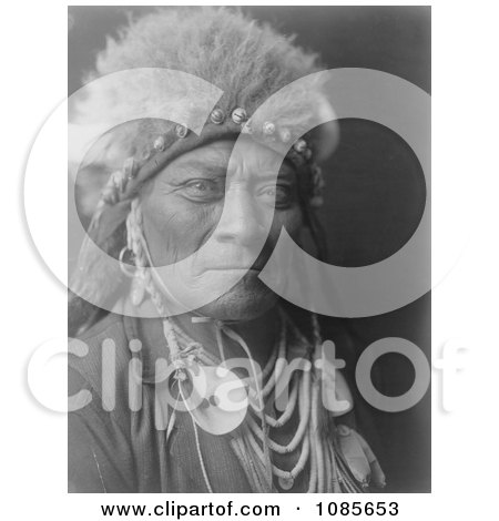 Crow Indian Man Called One Blue Bead - Free Historical Stock Photography by JVPD