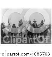 Crow Indians On Horses Wearing Masks Free Historical Stock Photography