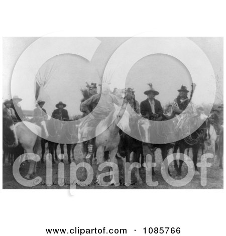 Crow Indians on Horses, Wearing Masks - Free Historical Stock Photography by JVPD