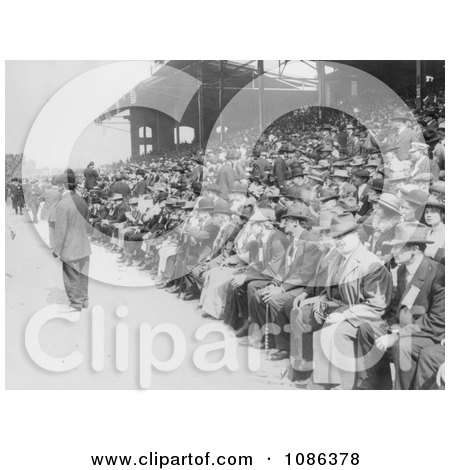Crowd of Baseball Fans in the Stadium on Chicago Day at White - Free Historical Baseball Stock Photography by JVPD