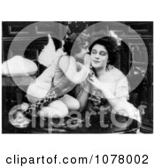 Cupid Whispering To A Woman Royalty Free Historical Stock Photography