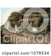 Cute Ivy Covered Swiss Cottage In Lee Devon England Royalty Free Stock Photography