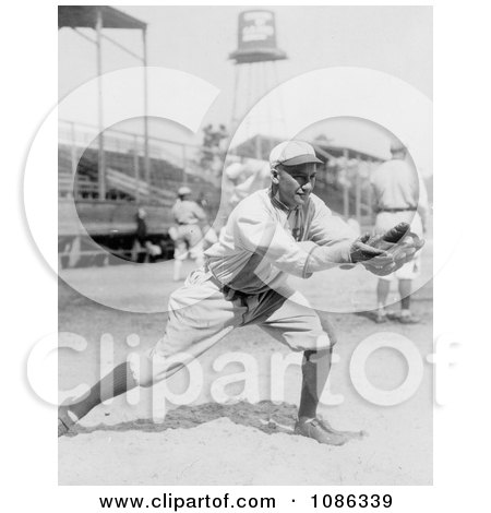 Del Pratt Catching a Baseball in 1913 - Free Historical Baseball Stock Photography by JVPD