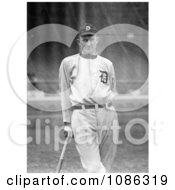 Detroit Tigers Baseball Player Ty Cobb Nick Named The Georgia Peach Leaning Against A Bat Free Historical Baseball Stock Photography by JVPD