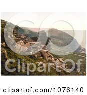 DevilS Cheesewring Rock Formation In The Valley Of Rocks In Lynton And Lynmouth Royalty Free Stock Photography