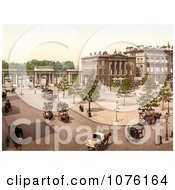 Double Decker Horse Drawn Carriages In Hyde Park Corner London England UK Royalty Free Stock Photography