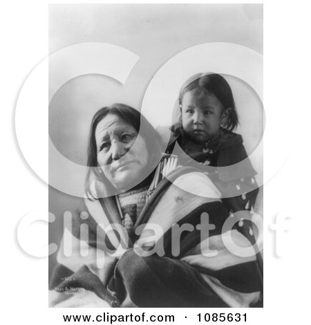 Eagle Feather With Baby, Sioux Indians - Free Historical Stock Photography by JVPD