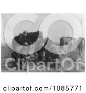 Edward S Curtis And Four Apsaroke Indians Free Historical Stock Photography