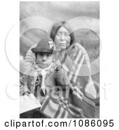 Eggelston Native American Mother Sitting With Her Child Free Historical Stock Photography