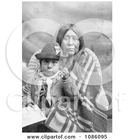 Eggelston Native American Mother Sitting With Her Child - Free Historical Stock Photography by JVPD