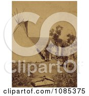 Elk Skin Tepee Free Historical Stock Photography