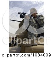 Female Videographer United States Air Force Soldier Recording Iraqi Soldiers At Camp Echo Free Stock Photography