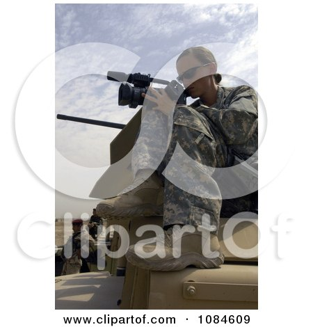Female Videographer United States Air Force Soldier Recording Iraqi Soldiers at Camp Echo - Free Stock Photography by JVPD