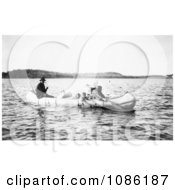 Five Ojibwa Indians In Canoe Free Historical Stock Photography by JVPD