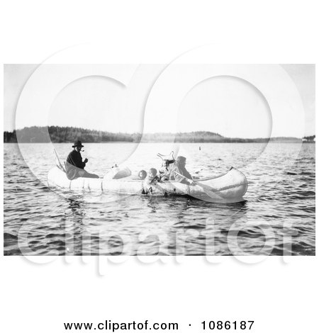 Five Ojibwa Indians in Canoe - Free Historical Stock Photography by JVPD
