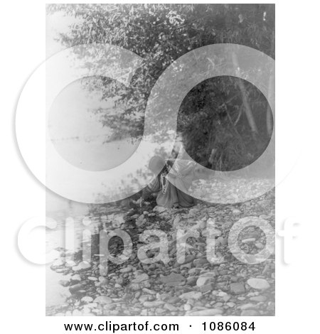 Flathead Woman by River - Free Historical Stock Photography by JVPD
