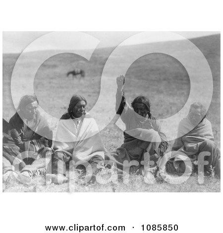Four Atsina Men - Free Historical Stock Photography by JVPD