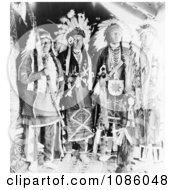 Four Nez Perce Indians Free Historical Stock Photography by JVPD