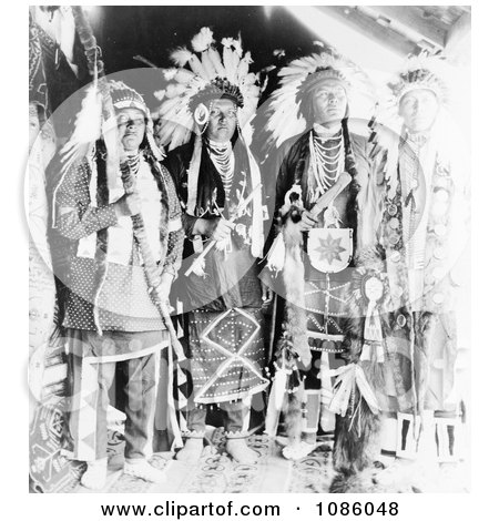 Four Nez Perce Indians - Free Historical Stock Photography by JVPD