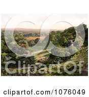 Gated Driveway And Fence In Happy Valley Of Royal Tunbridge Wells Kent England UK Royalty Free Stock Photography