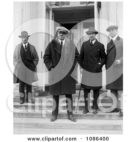 George Herman Ruth at the White House - Free Historical Baseball Stock Photography by JVPD