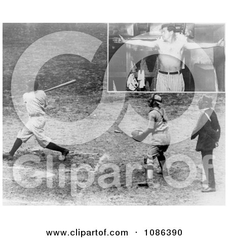 George Herman Ruth Jr - Free Historical Baseball Stock Photography by JVPD