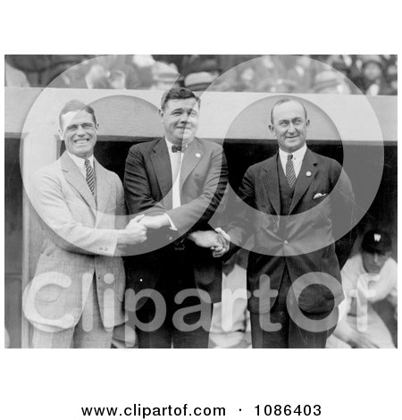 George Sisler, Babe Ruth, Ty Cobb - Free Historical Baseball Stock Photography by JVPD