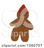 Gingerbread Elf With Red Candy Heart Royalty Free Stock Photo by Kenny G Adams