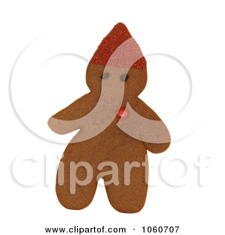 Gingerbread Elf With Red Candy Heart - Royalty Free Stock Photo by Kenny G Adams