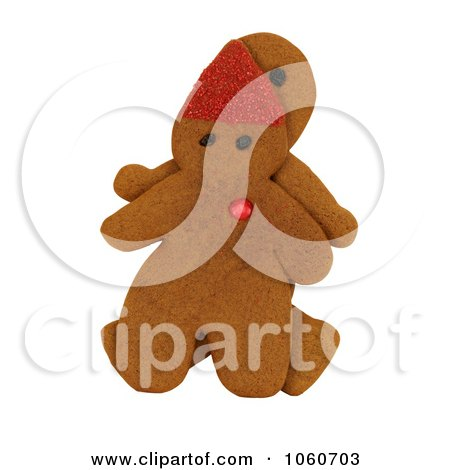 Gingerbread Man & Elf - Royalty Free Stock Photo by Kenny G Adams