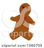 Gingerbread Man With Red Heart Royalty Free Stock Photo by Kenny G Adams