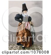 Girl From Grodenthal Grodertal Tyrol Austria In Traditional Dress Royalty Free Historical Clip Art