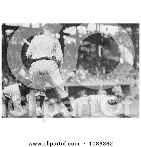 Goose Goslin Sliding for Home Plate During a Baseball Game - Free Historical Baseball Stock Photography by JVPD