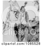 Grey Eagle With Tipi Free Historical Stock Photography by JVPD