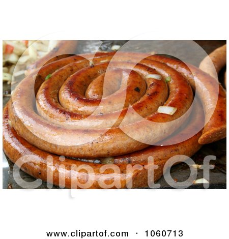 Grilled Polish Sausage - Royalty Free Stock Photo by Kenny G Adams