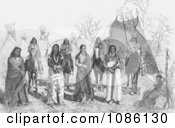 Group Of Bannock Indians Free Historical Stock Photography