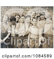 Group Of Doffer Boy Laborers At The Georgia Cotton Mill In 1909 Free Historical Stock Photography Photography by JVPD