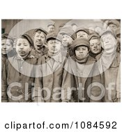Group Of Exhausted And Dirty Coal Miner Boys Posing For A Portrait In 1911 Free Historical Stock Photography Photography by JVPD