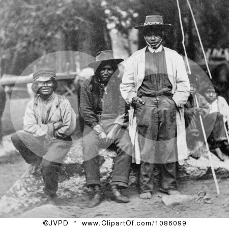 Group of Piute Indians - Free Historical Stock Photography by JVPD