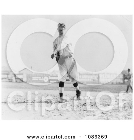 Hal Chase Throwing a Baseball in 1911 - Free Historical Baseball Stock Photography by JVPD